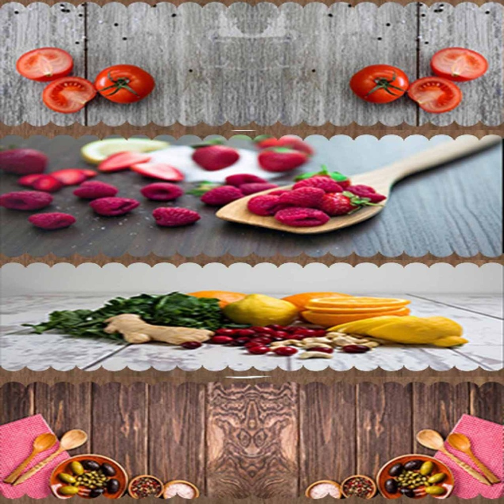 Else Red Yellow Vegetables Green Table Cloth Runner Decor For Kitchen Dining Room Wedding Birthday 40X140CM