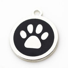 New style 20pcs/lot big dog paw dangle charms lobster clasp charms for glass momery floating necklace lockets jewelry(China)