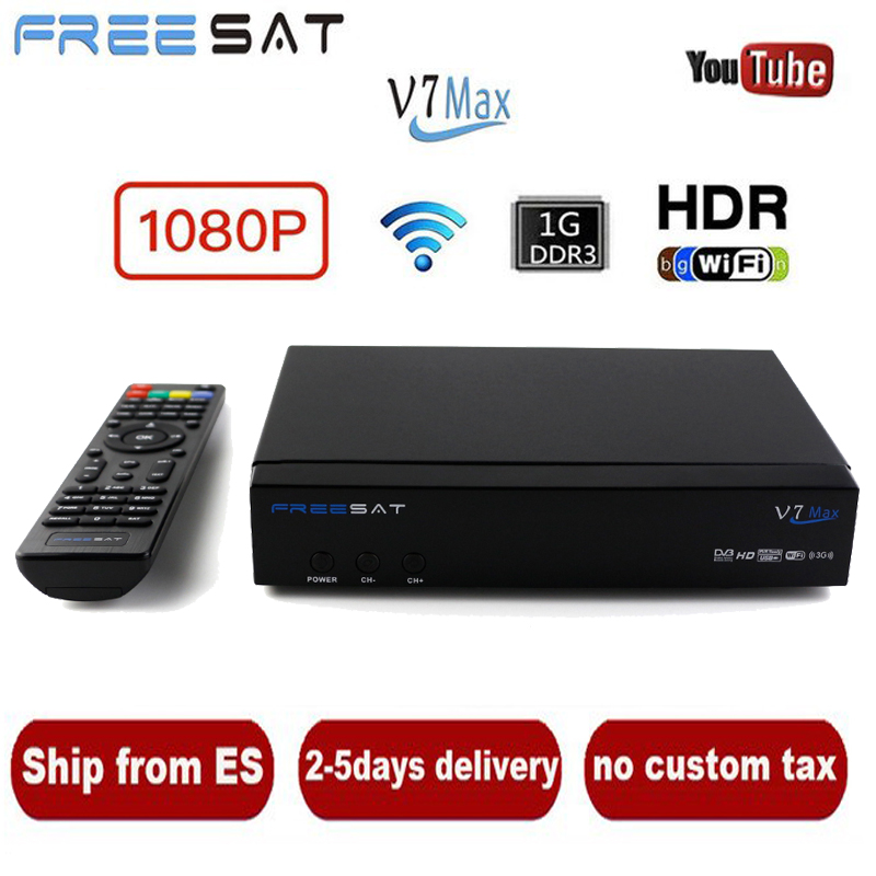 Freesat V7 Max 1080P Full HD Satellite Antenna Decoder DVB-S2 + USB Injection TV Set-top Box Satellite TV Receiver