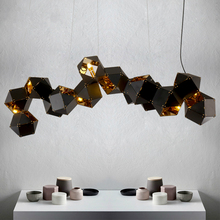 Welles Post Modern Metal Creative DNA Pendant White/ Black Long/ Circular Can Choose Designer Lamp For Restaurant Studio Home