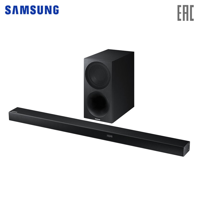 Soundbar with subwoofer Samsung HW-M550/RU new for samsung np300e5a np305e5c np300e5x np305e5a 300e5a 300e5c 300e5z russian ru laptop keyboard with case palmrest touchpad