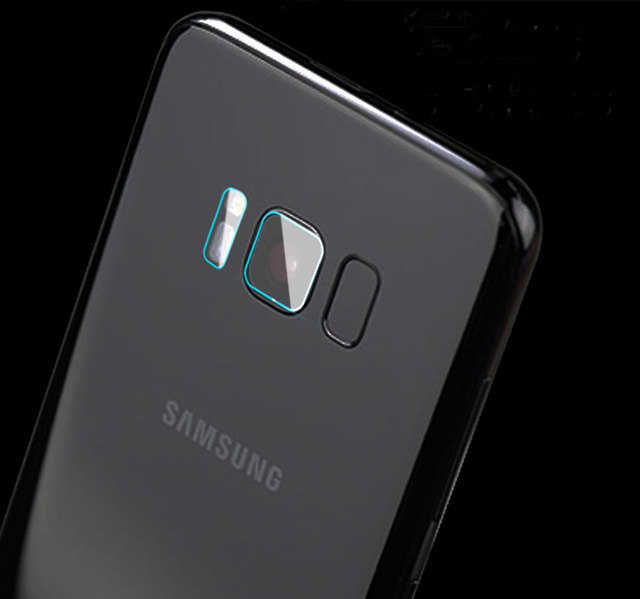9 H duro de templado de vidrio de película para Samsung A6 A8 2018 Nota 9 8 4 S8 S9 más S6 S7 cubierta protectora del Flash de la Lente de la cámara trasera clara del borde