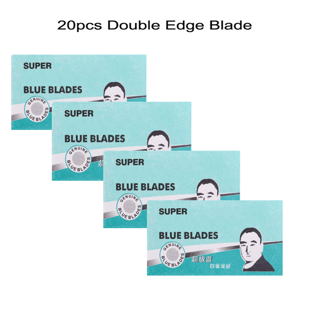 20pcs Double Edge Blade For Men Safety Razor Blades Stainless Steel Beard Hair Cutting Shaving Sharper Thinning Knife Cartridge