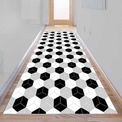 Ev ve Bahçe'ten Halı'de Başka bir Gri Siyah Beyaz Küpleri Kutuları Geometrik 3d Baskı Kaymaz Mikrofiber Yıkanabilir Uzun Koşucu halı yer halısı Kilim Hallway Hali title=