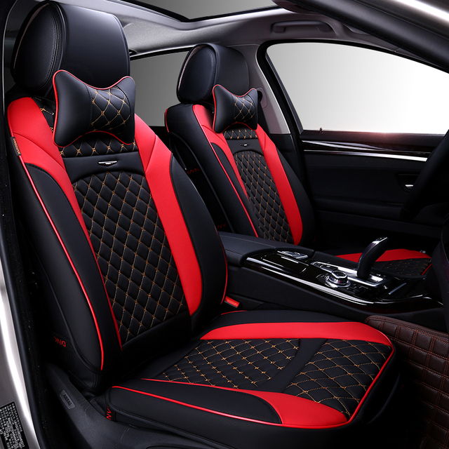 Front Rear Car Seat Cover For UAZ Patriot GAZ KAMAZ DERWAYS VOLGA Renault Clio Duster Logan