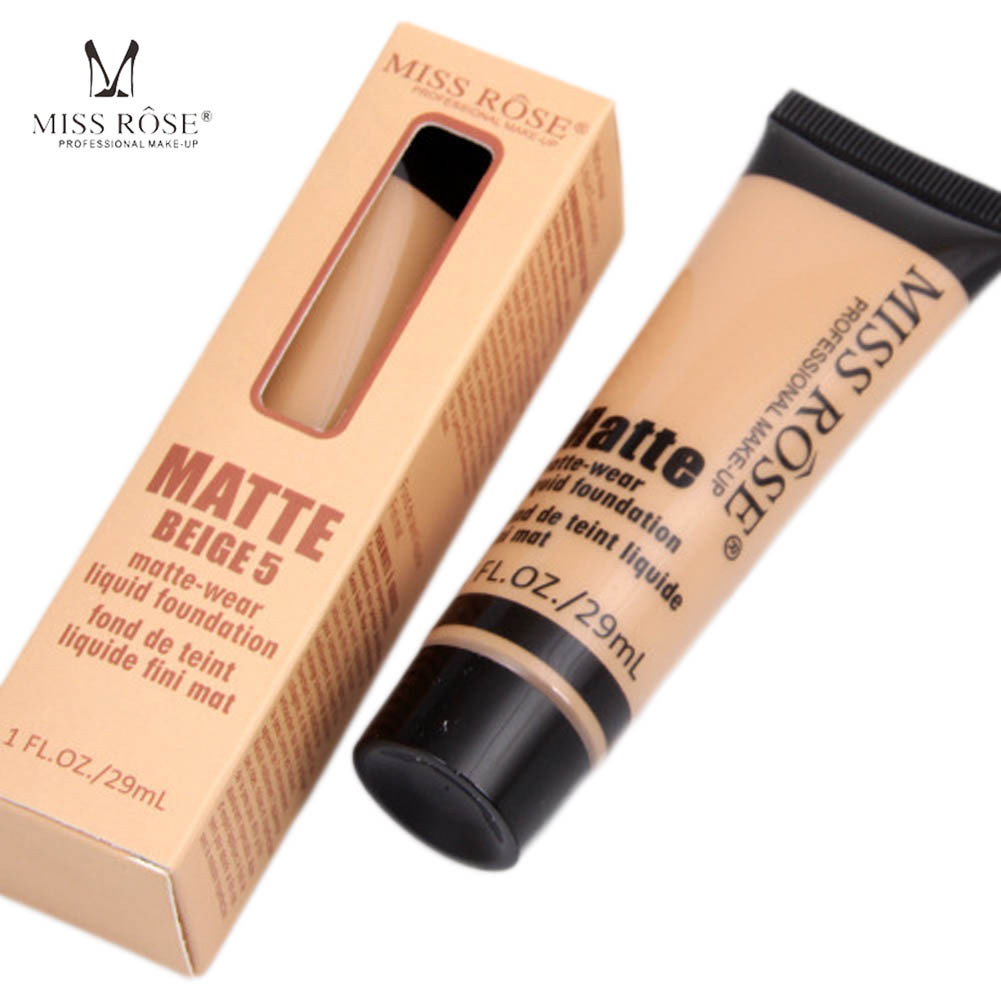 Miss Rose Cosmetic Fond De Teint Professional Base Maquiagem Matte Foundation Makeup Face Concealer Liquid In From Beauty