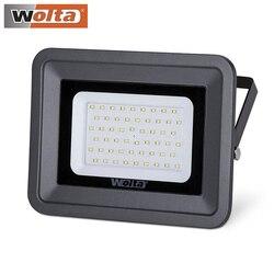 Светодиодный прожектор Wolta 10Вт 20Вт 30Вт 50Вт 70Вт 100Вт 150Вт 200Вт водонепроницаемый IP65 5500К, цвет серый, слим