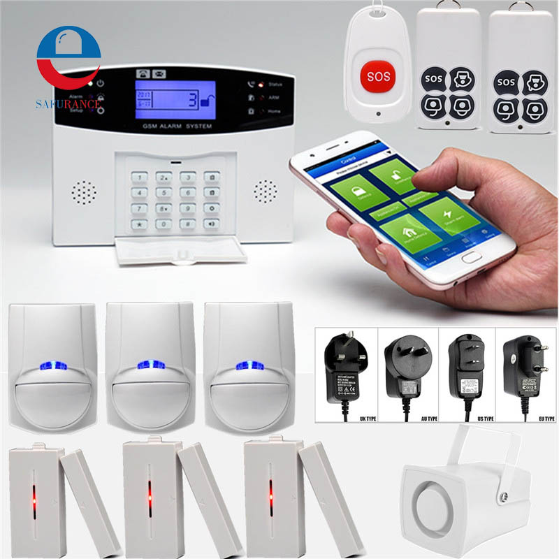 Wireless Home Burglar Security LCD GSM Alarm System Voice Prompt Infrared Sensor Metal Remote Control Kit SIM SMS Alarm Tools wholesale price gsm home alarm system wireless gsm sms home scurity burglar voice alarm system remote control arn disarm