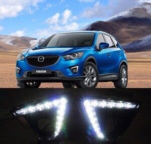 Para Mazda cx-5 cx5 2012 13 14 15 16 DRL luz LED de conducción diurna intermitente y atenuador estilo 12V lámpara antiniebla envío gratis