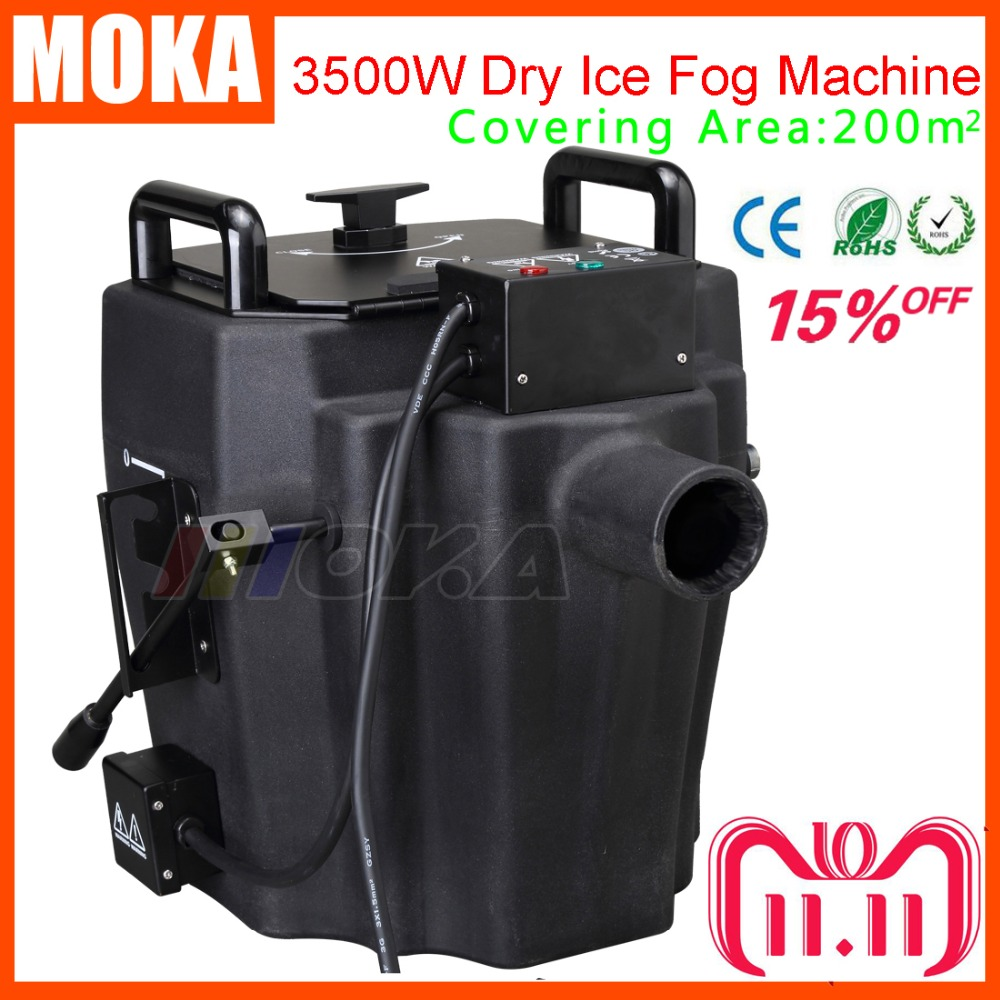 все цены на 3500w Dry Ice Fog Machine Stage Effect dry ice machine low ground smoke machine For DJ Party Event With 3m Hose