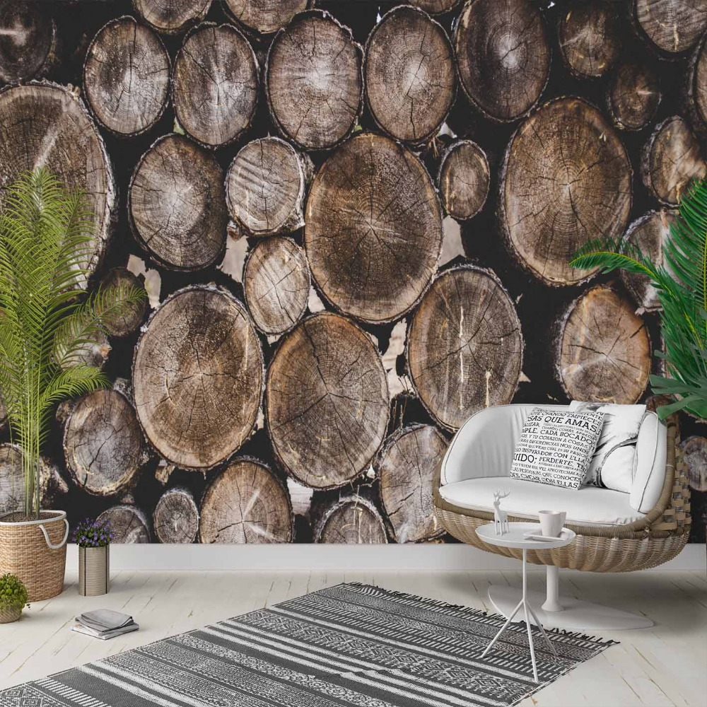 Else Slice Of Brown Trees Wood Aging Wall 3d Photo Cleanable Fabric Mural Home Decor Living Room Bedroom Background Wallpaper