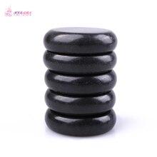 Free shipping 1 pack=5pcs Natrual hot spa black  basalt stone massage basalt stone  6*6cm