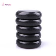 Free shipping 1 pack=5pcs Natrual hot spa black  basalt stone massage 6*6cm