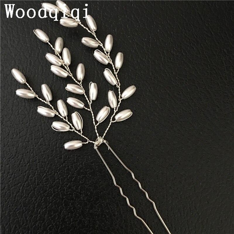 Woodqiqi 6pcs/lot hair accessories vestido de noivas cabelo acessorios de cabelo bijoux de tete mariage pearl hairpin