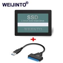 WEIJINTO SATA SSD 60 Гб 2,5 жесткий диск твердотельных дисков Внутренний 60 Гб SSD 64 ГБ и 20 см USB3.0 к 22pin sata3 адаптер