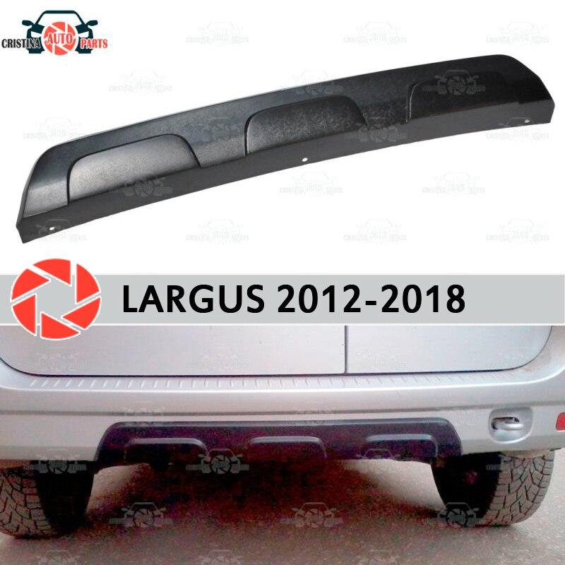 Difusor traseiro para carros Lada Largus 2012-2018 plástico ABS exterior peças de estilo do carro acessórios de decoração
