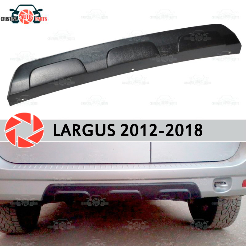 Lada largus 2012-2018 용 후면 범퍼 디퓨저 플라스틱 abs 외장 부품 자동차 스타일링 액세서리 장식