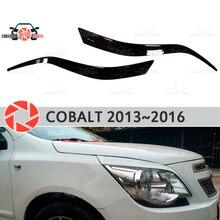 Брови для Chevrolet Cobalt 2013 ~ 2016 для фар ресницы пластиковые молдинги Декоративные Накладки для отделки автомобиля Стайлинг
