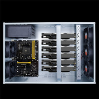 1STPLAYER Professional Mining Case Open Air Mining Frame Rig Coin Graphics Case For 6 8 GPU Support 5 Cooling Fans