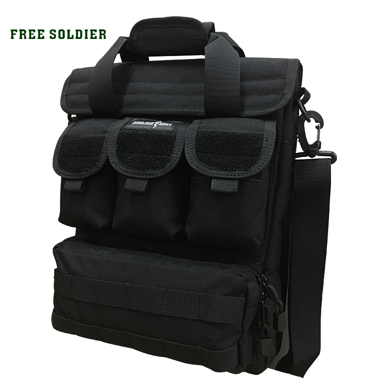 FREE SOLDIER Outdoor Hiking Camping  Men's Tactical Handy Bags CORDURA Material YKK Zipper Single Shoulder Bags zoom led flashlight 18650 rechargeable camping portable light tactical bicycle cycling torchlight waterproof bike torch