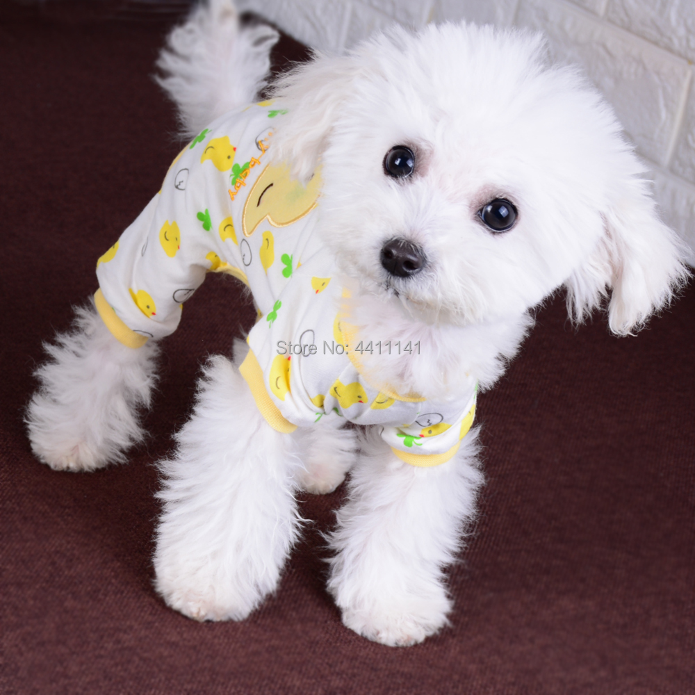 Adorable Cotton Dog Pajamas Small Pet Cat Clothes Jumpsuit Embroidery Puppy  Yorkie Leisure Wear-in Jumpsuits   Rompers from Home   Garden on  Aliexpress.com ... 9492b106f