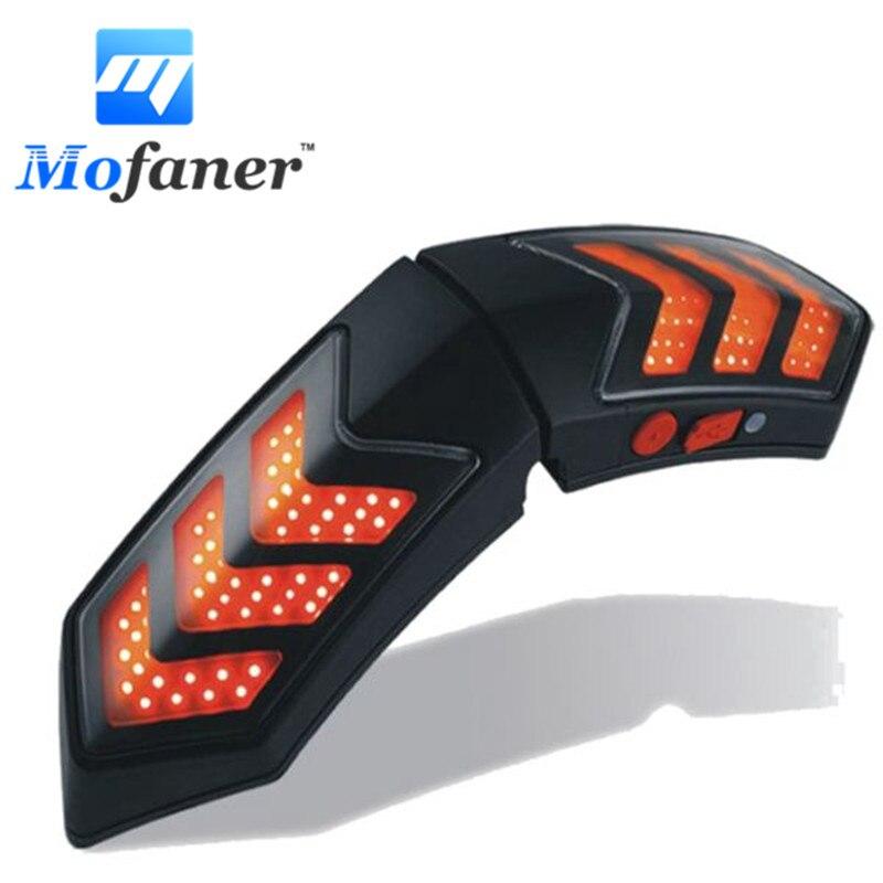 12V Wireless Motorcycle Smart helmet light LED Lights Safety With Running Lights Brake Lights Waterproof Turn Signal Indicators