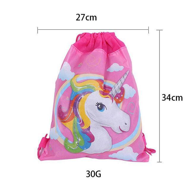 12pcs unicorn drawstring bags baby shower party decoration kids