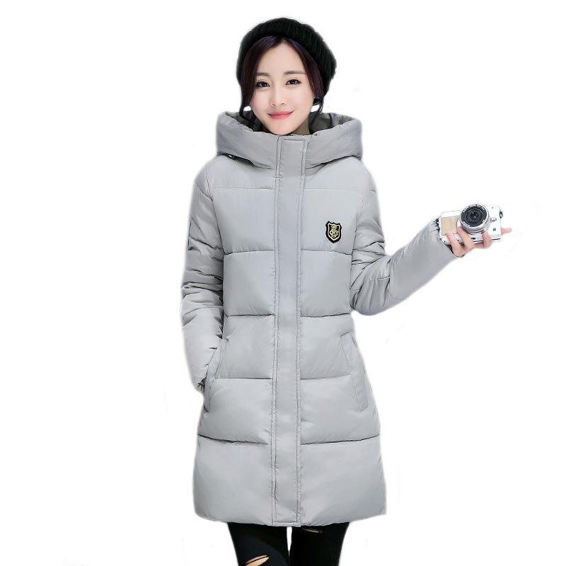 New Long Parka Femminile Donne Cappotto Ispessimento Giacca di Cotone Invernale Outwear Parka per Le Donne Inverno Outwear