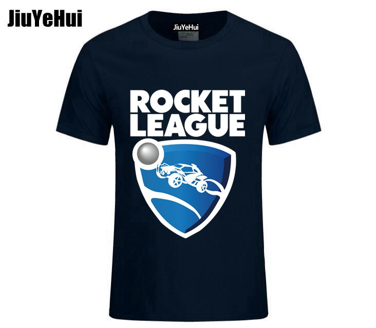 2018 Men Tshirts Geek Men's Rocket League Organic Cotton   T  -  Shirt   Round Collar   T     Shirt   Men Tshirt S-XXXL