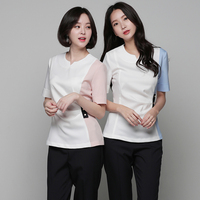 Korea Fashion Beauty Salon SPA Clothing Hospital Nurse Top+Pants Set High Quality Nail Artist Uniforms Wholesale Free Shipping