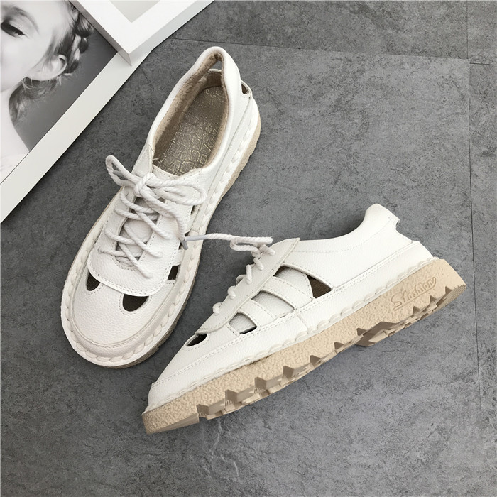 De Main Doux Rétro Rose Nouvelle Super Littéraire Original Blanc Japonais blanc Chaussures À Département Mori La Été Plates 8PwfSq8