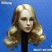 Toys BELET BT017 1/6 Scale Beauty European Girl Head Sculpt for 12 inches PHICEN TBLEAGUE VERYCOOL Action Figure Head Sculpture