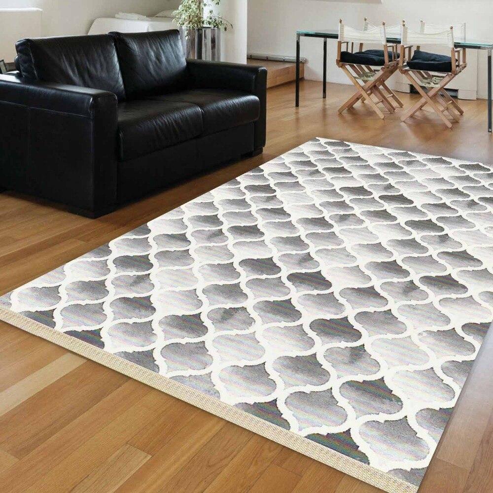 Else Black White Watercolor Ikat Ogee Geometrics 3d Print Anti Slip Kilim Washable Decorative Kilim Area Rug Bohemian Carpet