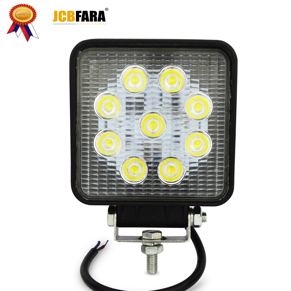 Led Work Light Spot Flood Beam Truck Trailer Led Work Light 12v 27w Offroad Waterproof Work