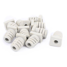 UXCELL 10Pcs 5Mm Inner Dia Rubber Strain Relief Cord Boot Protector Cable Sleeve Beige boot | wire