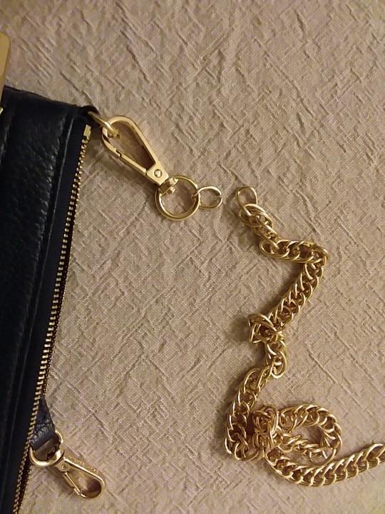 Gratis verzending Hight Kwaliteit tas riem handtas vervanging portemonnee riem tas accessoires tas hardware Bronzen kettingzak onderdelen photo review