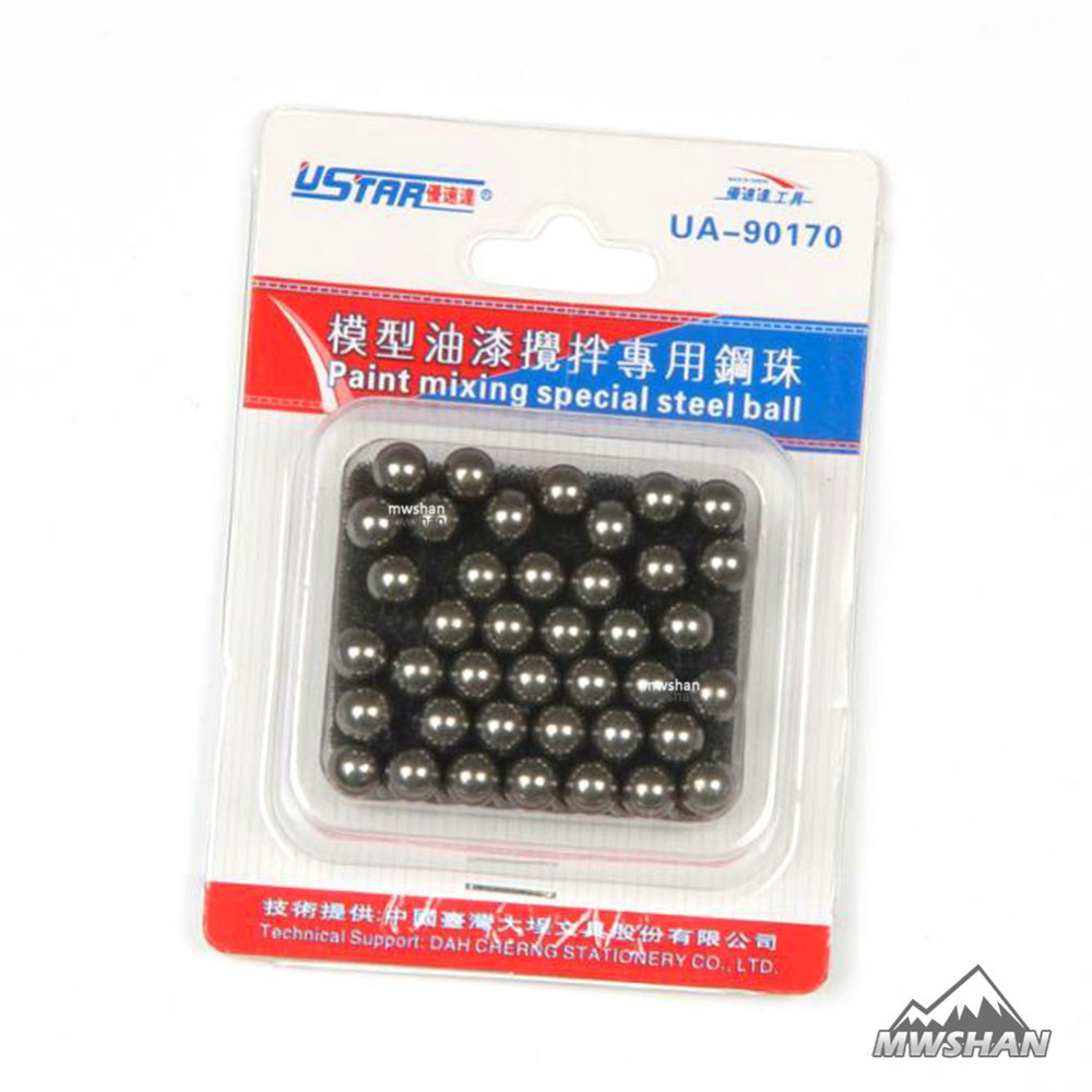 Ustar 90170 Model Paint Mixing Special Steel Ball 4.77mm 45 Pcs In 1 Set Painting Tools Accessory