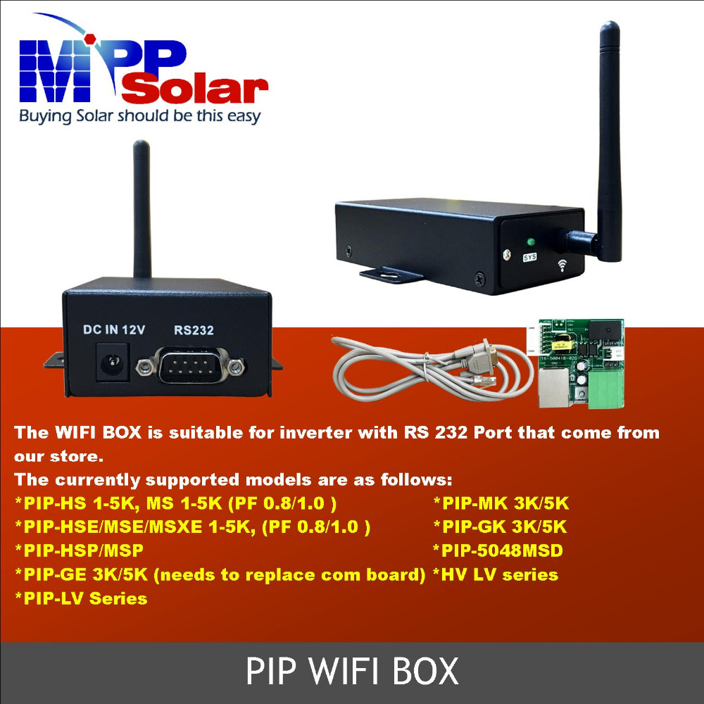WIFI Box for PIP and Hybrid V series inverter use