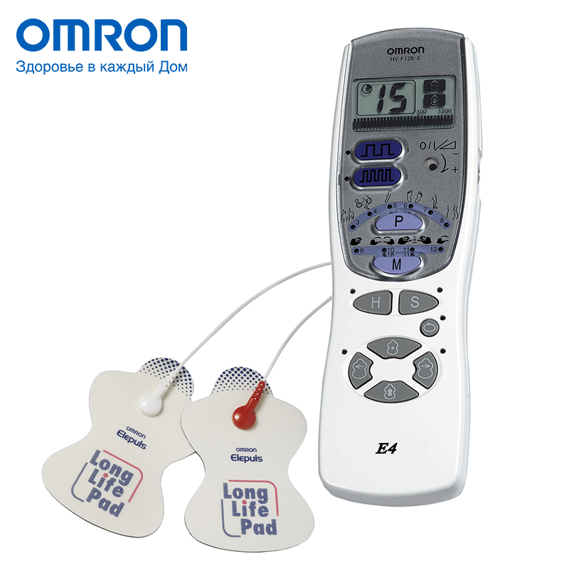 Omron E4 (HV-F128-E) Electric massager Massage & Relaxation Home Health Care Multifunctional 12 stimulation programs omron m6 hem 7213 aru blood pressure monitor home health care monitor heart beat meter machine tonometer automatic digital