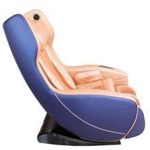 Массажное кресло Bend сине-коричневое, L-образная каретка, USB, колонки, массаж фиксированной точки, прогрев, автоотключение GESS