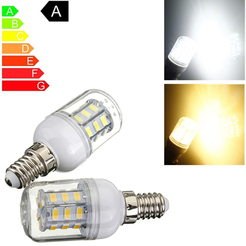 LED Corn Light Bulb E14 4W 5730SMD 27leds Energy Saving Spotlight LED Spot Light Lamp Bulbs Pure Warm White LED Lighting 24V 4pcs led light bulb 4w smd 48led energy saving lights lamp bulb home kitchen under cabinet lighting pure warm white 110 240v