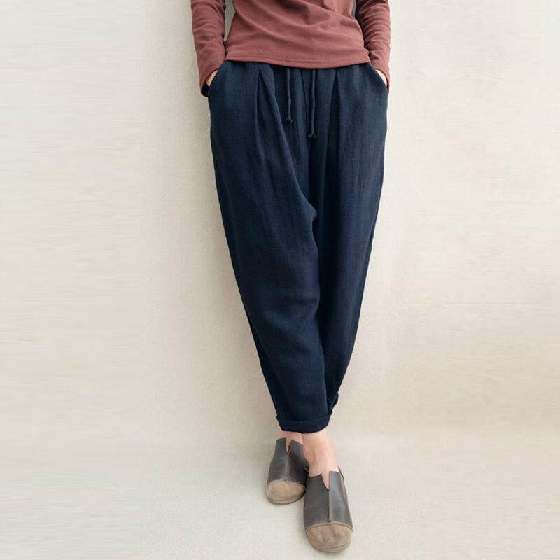 Frauen Kausalen Breite Bein Hosen 2018 Sommer Lose Elastische Taille Spleißen Hosen Taschen Plus Größe Baggy Böden S-5XL Übergroßen