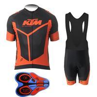 KTM Team di Ciclismo Mountain Bike uomo Usura di Riciclaggio di Estate 100% Traspirante Cuscino 9D