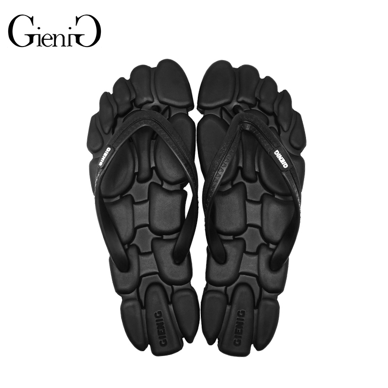 fb356318e89df GieniG 2018 summer men outdoor slippers leisure fashion sandals anti slip  clip foot flat comfortable flip flops men-in Flip Flops from Shoes on ...