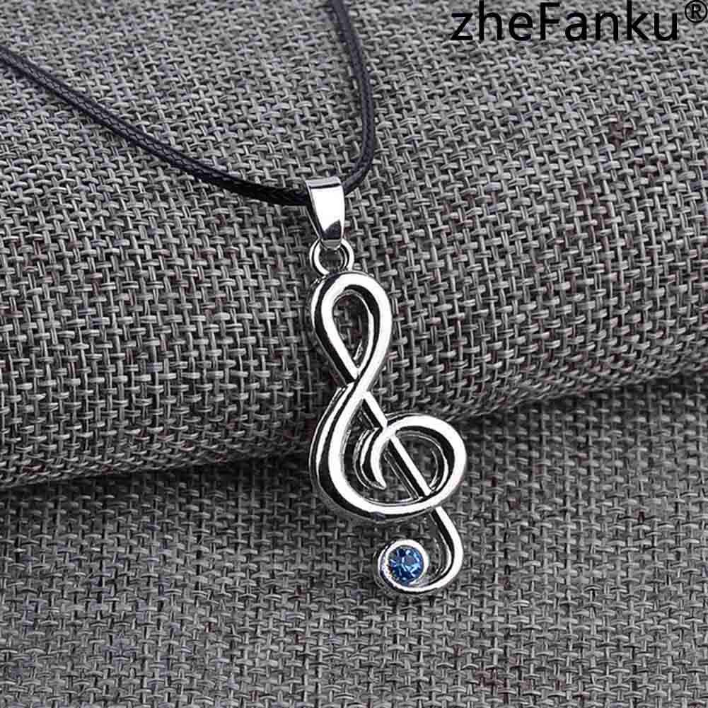 Hatsune Miku Character Treble G Clef Music Note Pendant Necklace Rope Chain For Men Women Gift Wholesale Anime Jewelry