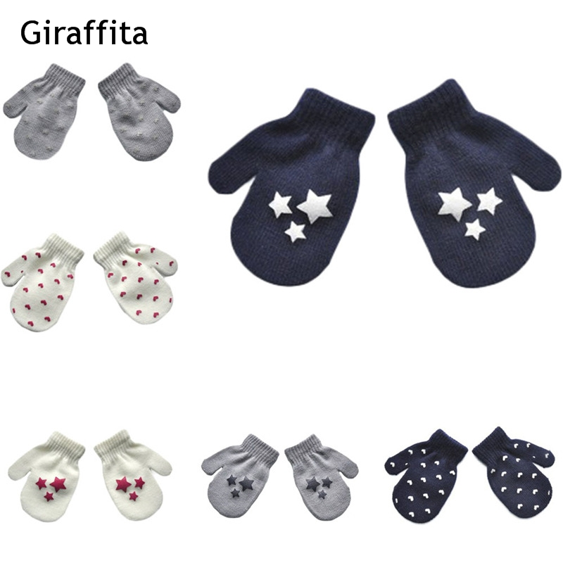 Knitted gloves mitten  Winter Gloves mittens For The Boy Girls Soft Warm Full Finger Gloves child mittens