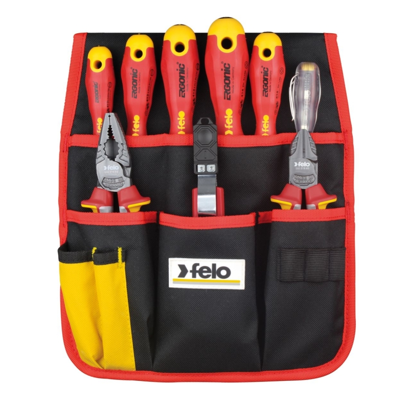 Hand tool set FELO 41399504 dielectric screwdrivers dielectric пасcатижи, side cutter, knife, 9 pcs) deposition of zinc oxide by dielectric barrier discharge
