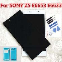 Оригинальный ЖК-дисплей для Sony Xperia Z5 E6603 E6633 E6653 E6683 сенсорный экран дигитайзер в сборе с рамкой + Бесплатные инструменты ЖК-части