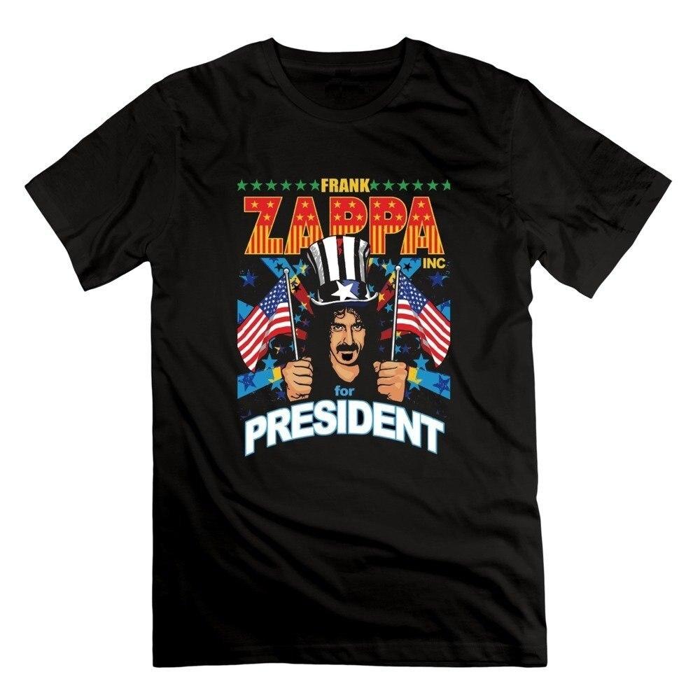 T Shirt Design Shop O-Neck Hip Hop Printed Men Frank Zappa To President Photo Mens T-Shirt Men Short New Style Tee Shirt