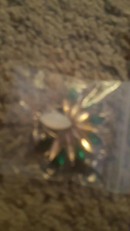 Crystal Flower Drop Earrings photo review